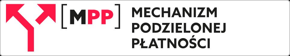 Ikona: MPP. Napis: Mechanizm podzielonej płatności.